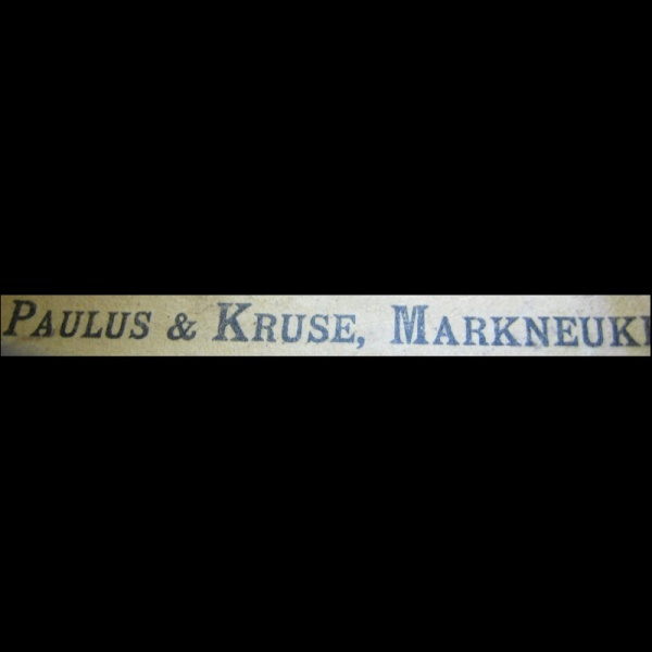 USED 4/4 FULL SIZE VIOLIN LABEL PAULUS & 4/4 MARKNEUKRC KRUSE C.1920 - Click Image to Close