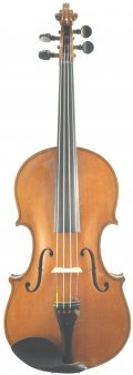 4/4 FULL SIZE VIOLIN 20TH CENTURY COPY OF STRAD MODEL 1722. LINED SCROLL. MARKNEUKIRCHEN, GERMANY